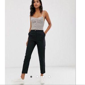 ASOS Design Black Linen Clean Cigarette Pants 14